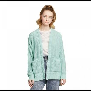 Wild Fable open oversized cardigan Pale mint